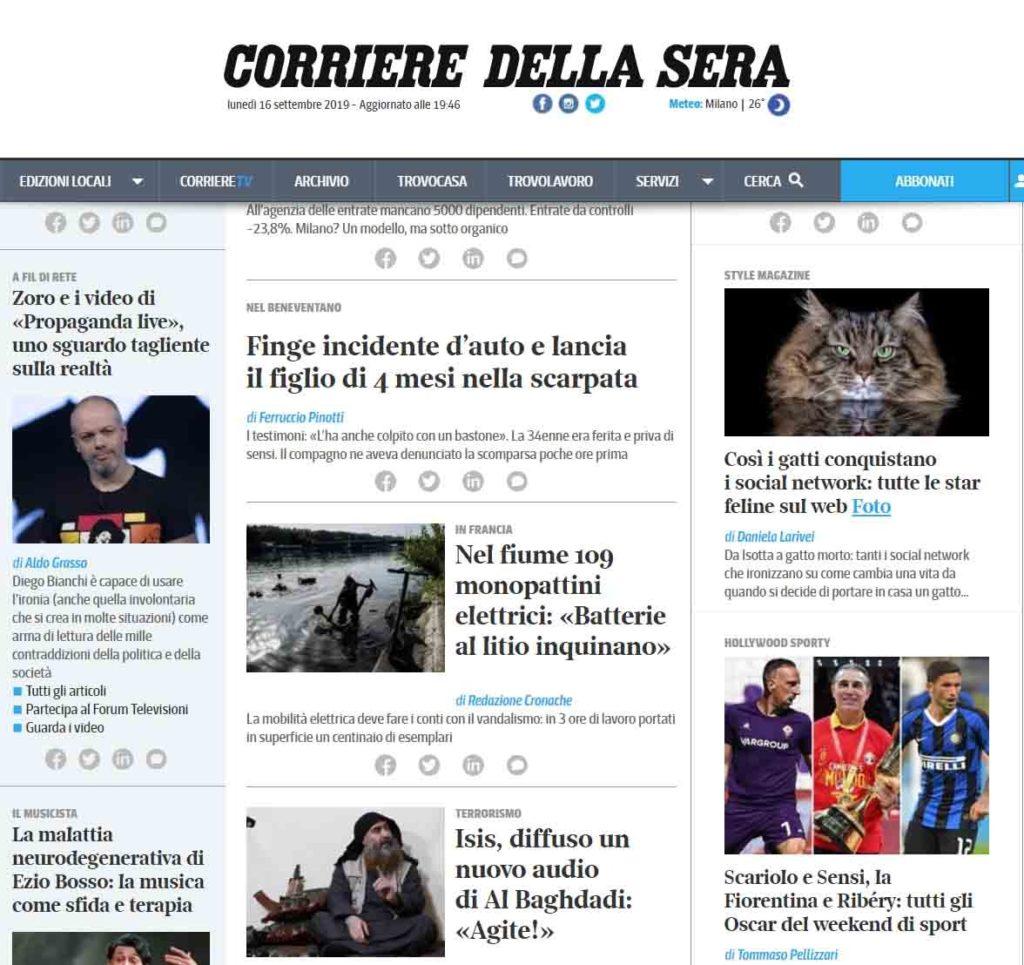 Rocchini Gatto Morto Corriere.it